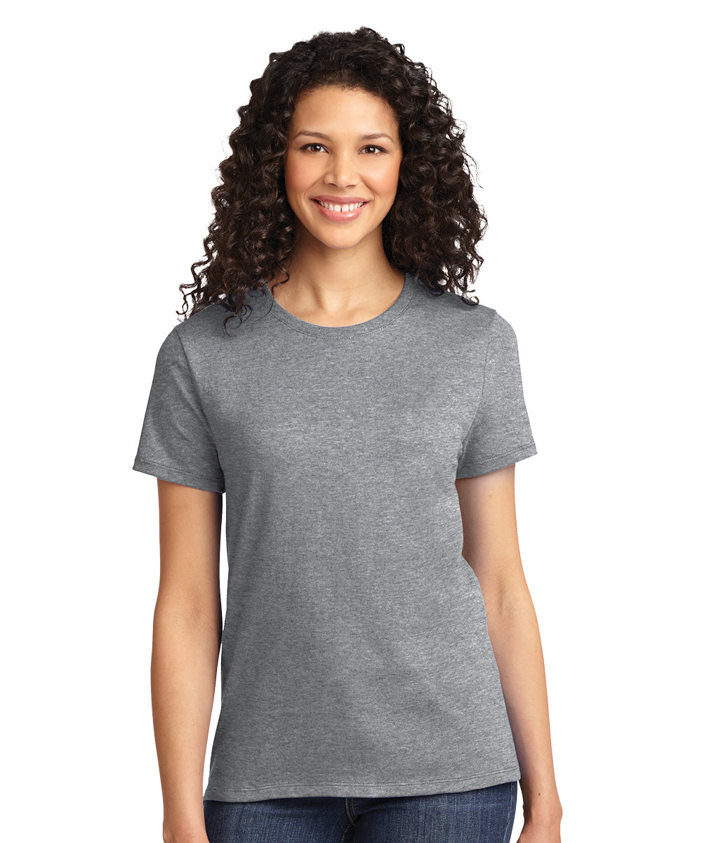 Short Sleeve 100% Cotton Classic Women's T-Shirts (Athletic Heather) as shown in the UniFirst Uniform Rental Catalog.