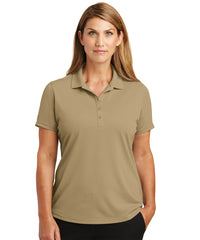 Women's Lightweight Short Sleeve Snag-Proof Polo Shirts (Tan) as shown in the UniFirst Uniforms Rental Catalog