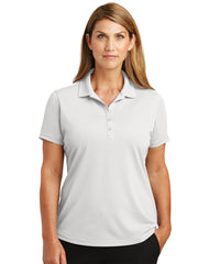 Women's Lightweight Short Sleeve Snag-Proof Polo Shirts (White) as shown in the UniFirst Uniforms Rental Catalog