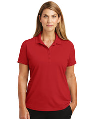 Women's Red Lightweight Short Sleeve Snag-Proof Polo Shirts as shown in the UniFirst Uniforms Rental Catalog