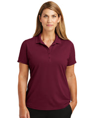 Women's Maroon Lightweight Short Sleeve Snag-Proof Polo Shirts as shown in the UniFirst Uniforms Rental Catalog