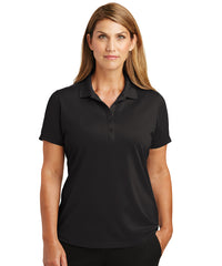 Women's Black Lightweight Short Sleeve Snag-Proof Polo Shirts as shown in the UniFirst Uniforms Rental Catalog