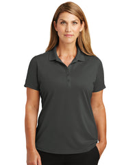 Women's Lightweight Short Sleeve Snag-Proof Polo Shirts (Charcoal) as shown in the UniFirst Uniforms Rental Catalog