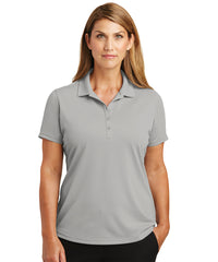 Women's Lightweight Short Sleeve Snag-Proof Polo Shirts (Light Grey) as shown in the UniFirst Uniforms Rental Catalog