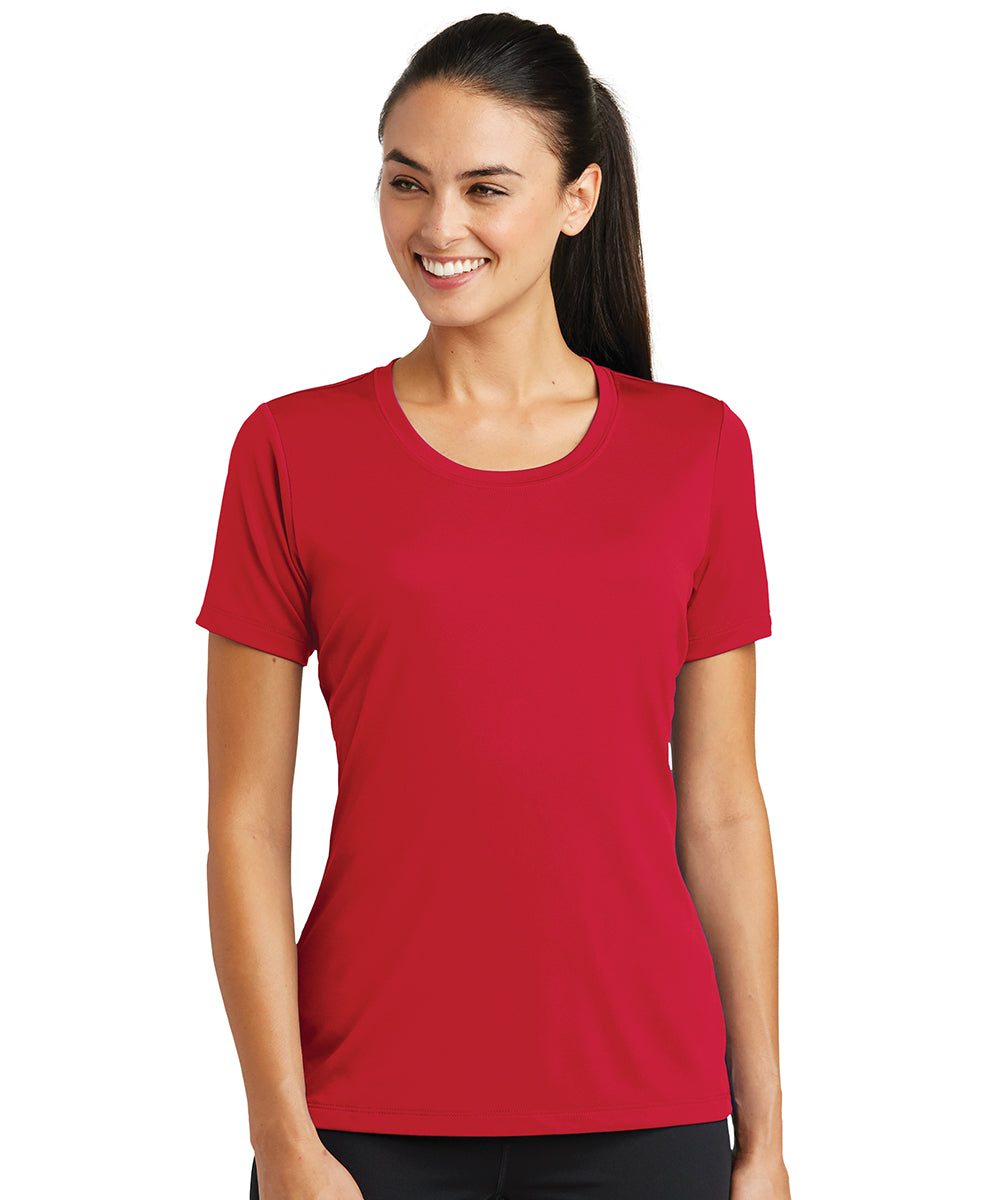 Women's Sport-Tek® PosiCharge® Tough Tees™ T-Shirt (Red) as shown in the UniFirst Uniform Rental Catalog