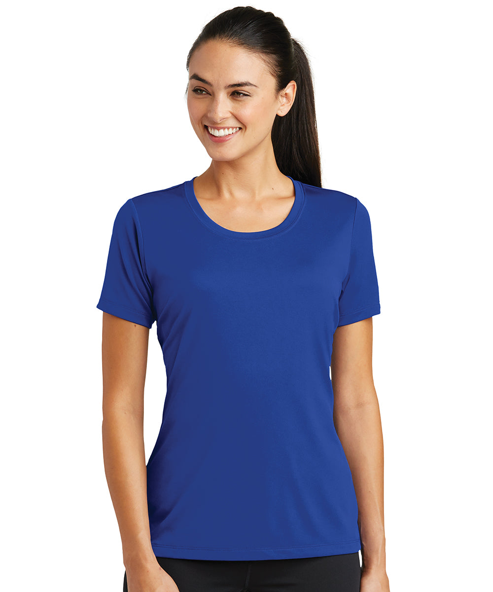 Women's Sport-Tek® PosiCharge® Tough Tees™ T-Shirt (Royal Blue) as shown in the UniFirst Uniform Rental Catalog