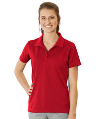 Women's UniSport™ Micropiqué Polos (Red) Shown in UniFirst Uniform Rental Service Catalog