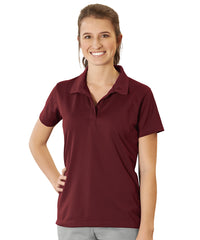Women's UniSport™ Micropiqué Polos (Maroon) Shown in UniFirst Uniform Rental Service Catalog