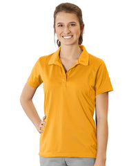 Women's UniSport™ Micropiqué Polos (Gold) Shown in UniFirst Uniform Rental Service Catalog