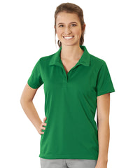 Women's UniSport™ Micropiqué Polos (Kelly Green) Shown in UniFirst Uniform Rental Service Catalog