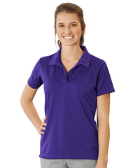 Women's UniSport™ Micropiqué Polos (Purple) Shown in UniFirst Uniform Rental Service Catalog
