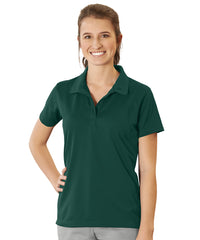 Women's UniSport™ Micropiqué Polos (Hunter Green) Shown in UniFirst Uniform Rental Service Catalog