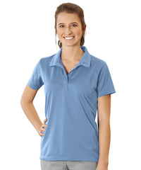 Women's UniSport™ Micropiqué Polos (Lake Blue) Shown in UniFirst Uniform Rental Service Catalog