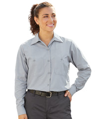 Women's MIMIX™ Ripstop Work Shirts in Lt. Grey as shown in the UniFirst UniForm Rental Catalog