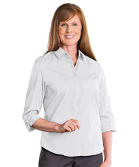 3/4 Sleeve Blouse (White) Shown in UniFirst Uniform Rental Service Catalog