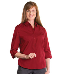 3/4 Sleeve Blouse (Red) Shown in UniFirst Uniform Rental Service Catalog