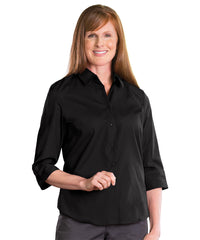 3/4 Sleeve Blouse (Black) Shown in UniFirst Uniform Rental Service Catalog