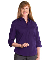 3/4 Sleeve Blouse (Purple) Shown in UniFirst Uniform Rental Service Catalog