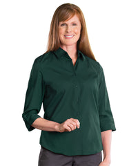3/4 Sleeve Blouse (Hunter Green) Shown in UniFirst Uniform Rental Service Catalog