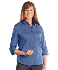3/4 Sleeve Blouse (French Blue) Shown in UniFirst Uniform Rental Service Catalog