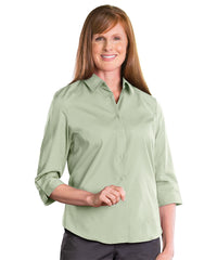 3/4 Sleeve Blouse (Celery) Shown in UniFirst Uniform Rental Service Catalog
