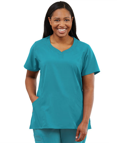 Women's WonderWink INDY™ Notch-Neck Scrub Tops