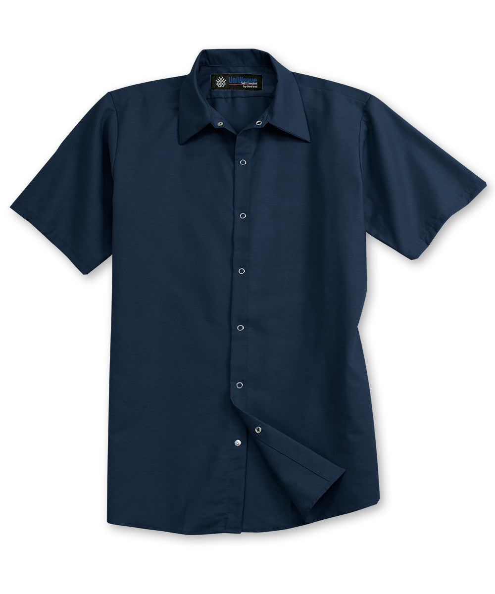 Navy Blue UniFirst® Food Service Shirts Shown in UniFirst Uniform Rental Service Catalog