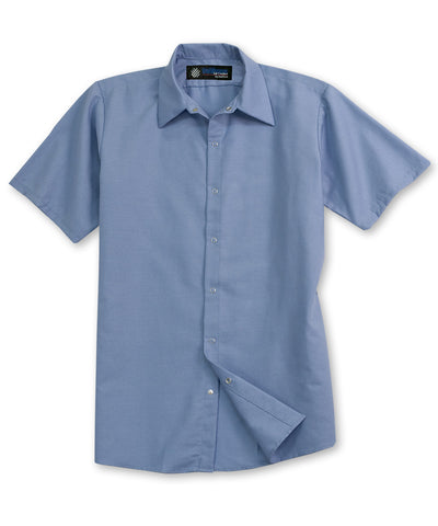 UniWeave® Short Sleeve Cotton Pocketless Food Service Shirts