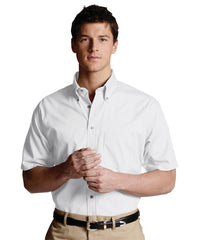 White Men's Button-Down Poplin Shirts Shown in UniFirst Uniform Rental Service Catalog