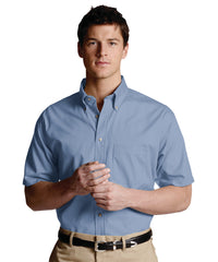 Light Blue Men's Button-Down Poplin Shirts Shown in UniFirst Uniform Rental Service Catalog