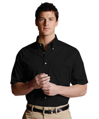 Black Men's Button-Down Poplin Shirts Shown in UniFirst Uniform Rental Service Catalog