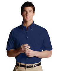 Royal Blue Men's Button-Down Poplin Shirts Shown in UniFirst Uniform Rental Service Catalog