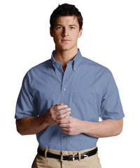 French Blue Men's Button-Down Poplin Shirts Shown in UniFirst Uniform Rental Service Catalog