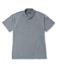 Bulwark® FR Flame Resistant Short Sleeve Polo Shirts in Grey as shown in the UniFirst UniForm Rental Catalog