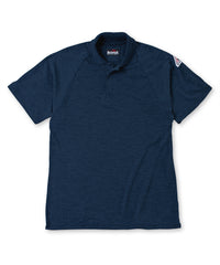 Bulwark® FR Flame Resistant Short Sleeve Polo Shirts in Navy as shown in the UniFirst UniForm Rental Catalog