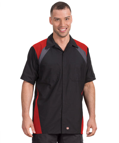 Short Sleeve Tri Color Ripstop Automotive Shirts