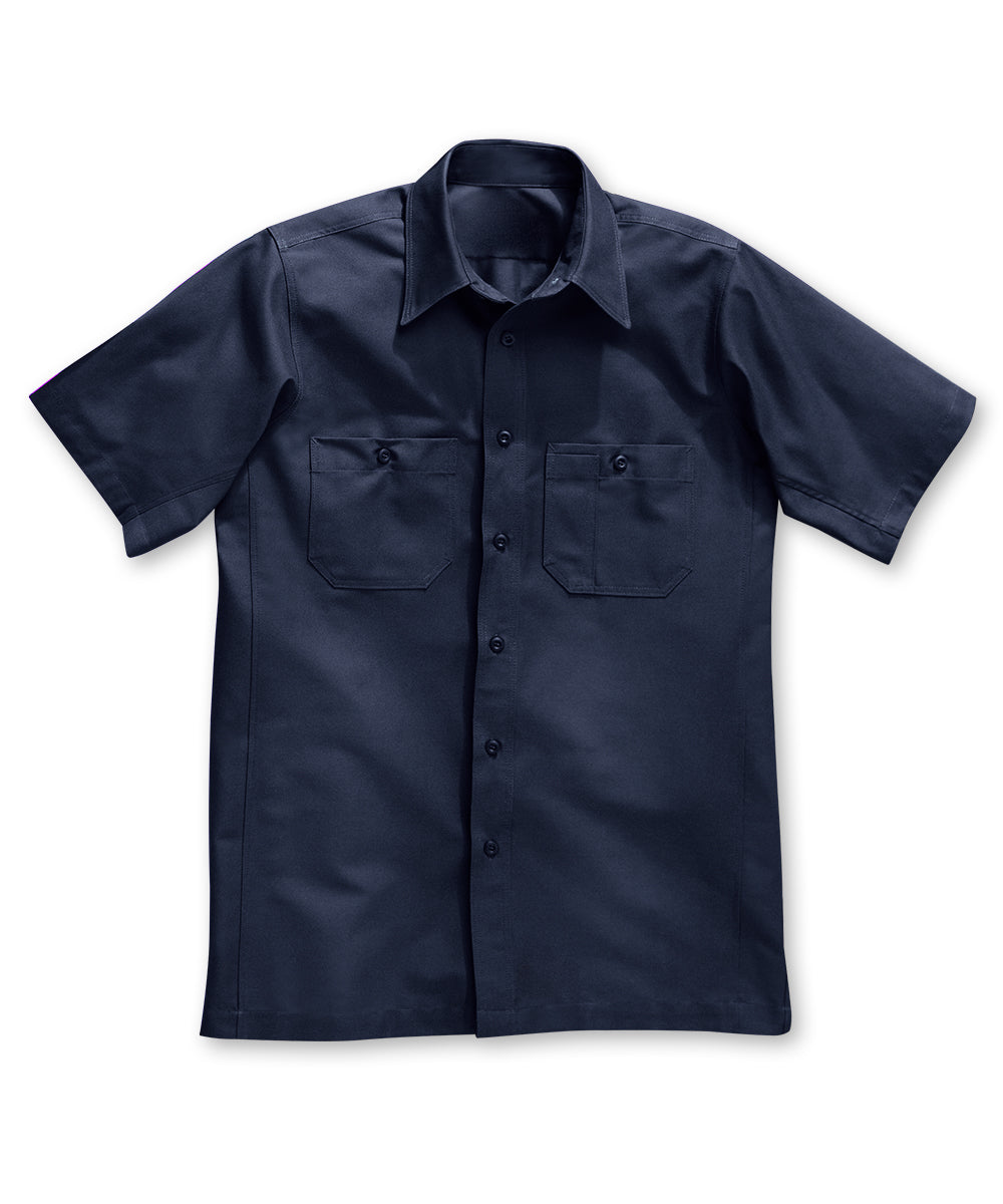 Dickies® Short Sleeve Canvas Work Shirts in Navy color as shown in the UniFirst Rental Catalog