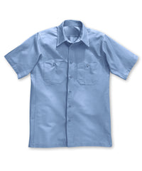 Dickies® Short Sleeve Canvas Work Shirts in Light Blue color as shown in the UniFirst Rental Catalog