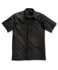 Dickies® Short Sleeve Canvas Work Shirts in Black color as shown in the UniFirst Rental Catalog