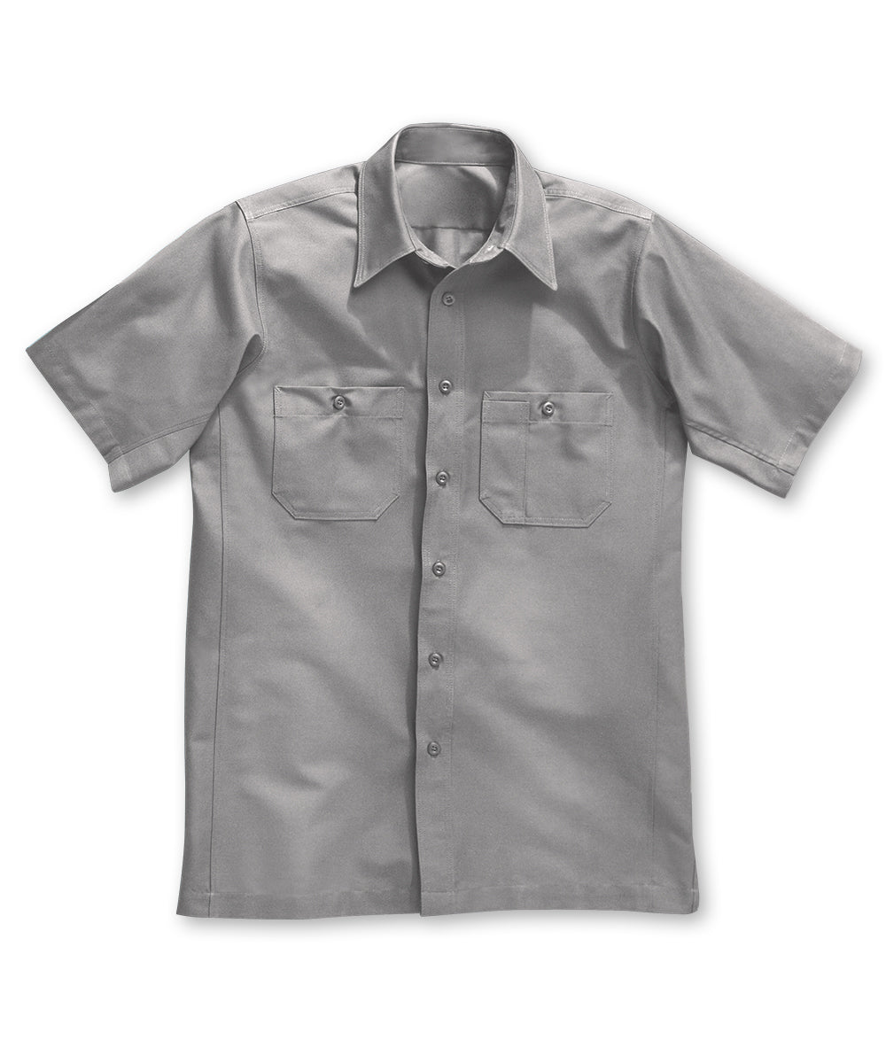 Silver Wrangler Workwear™ Canvas Short Sleeve Work Shirts Shown in UniFirst Uniform Rental Service Catalog