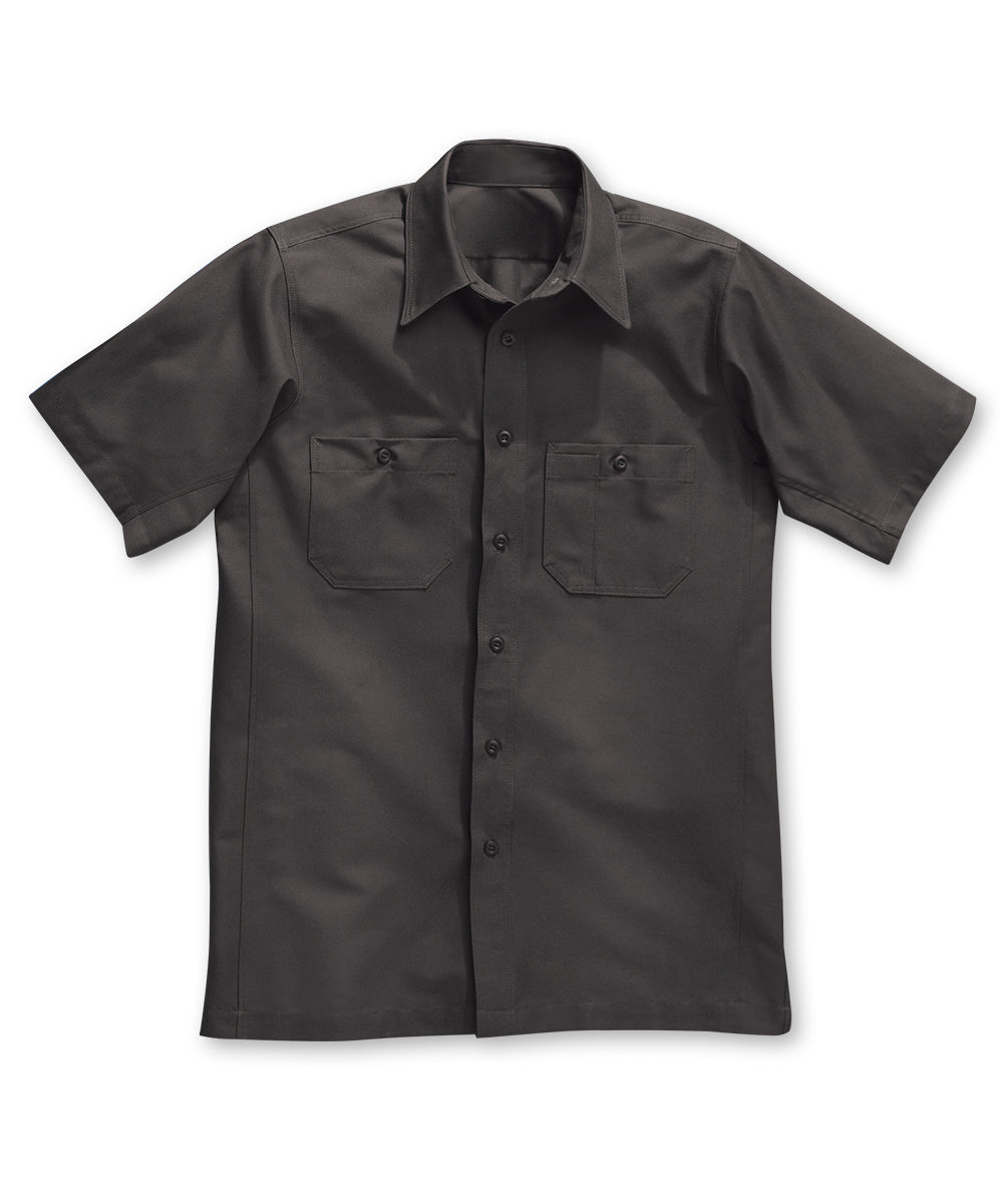 Dickies® Short Sleeve Canvas Work Shirts in Charcoal color as shown in the UniFirst Rental Catalog