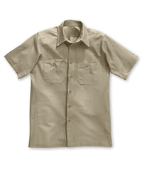 Dickies® Short Sleeve Canvas Work Shirts in Khaki color as shown in the UniFirst Rental Catalog