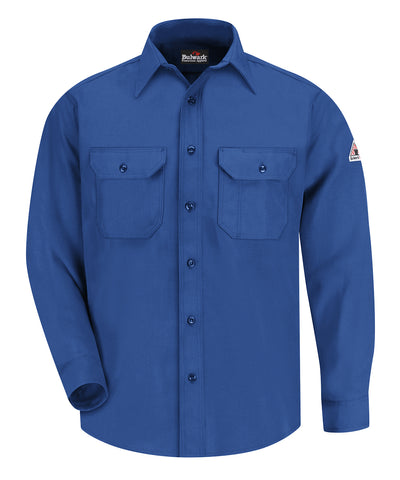 Bulwark® FR Uniform Shirts with Nomex® III A (Red) as shown in the UniFirst Uniform Rental Catalog.