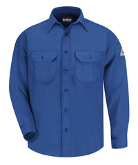 Bulwark® FR Uniform Shirts with Nomex® III A (Royal Blue) as shown in the UniFirst Uniform Rental Catalog.