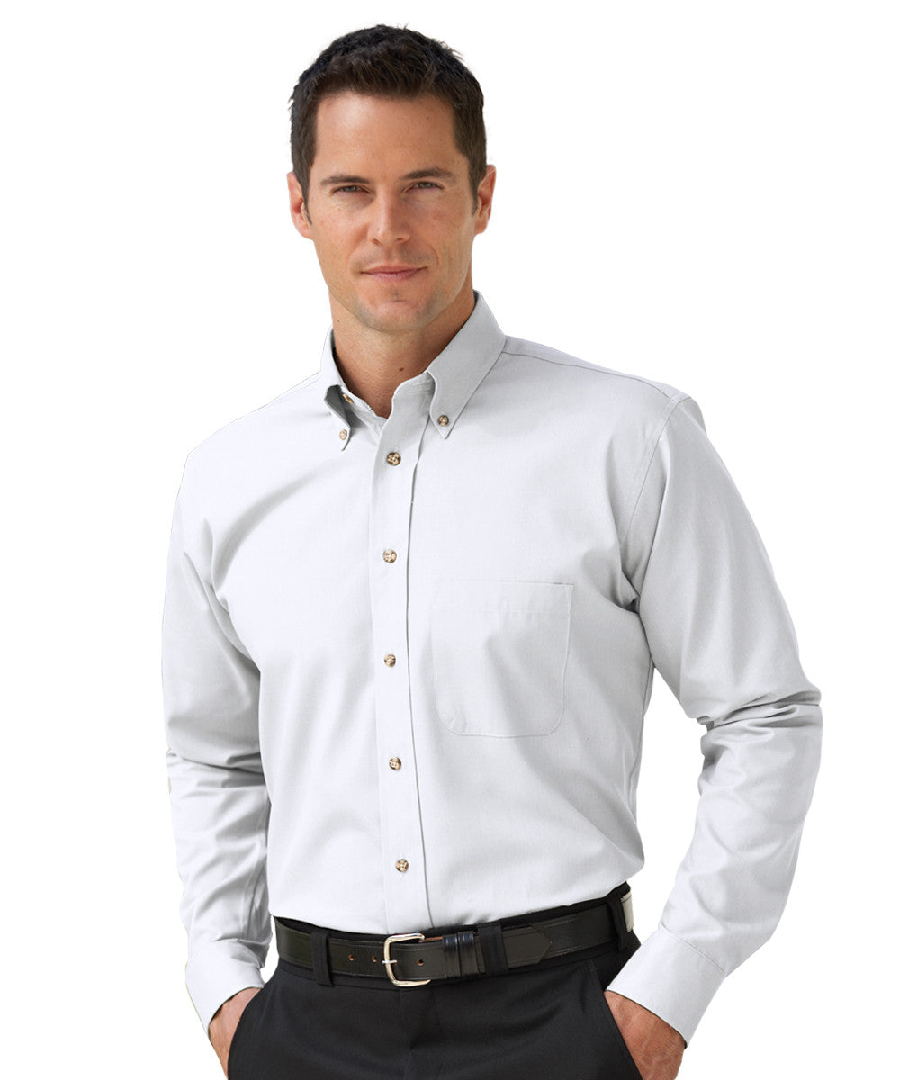 White Button-Down Poplin Shirts Shown in UniFirst Uniform Rental Service Catalog