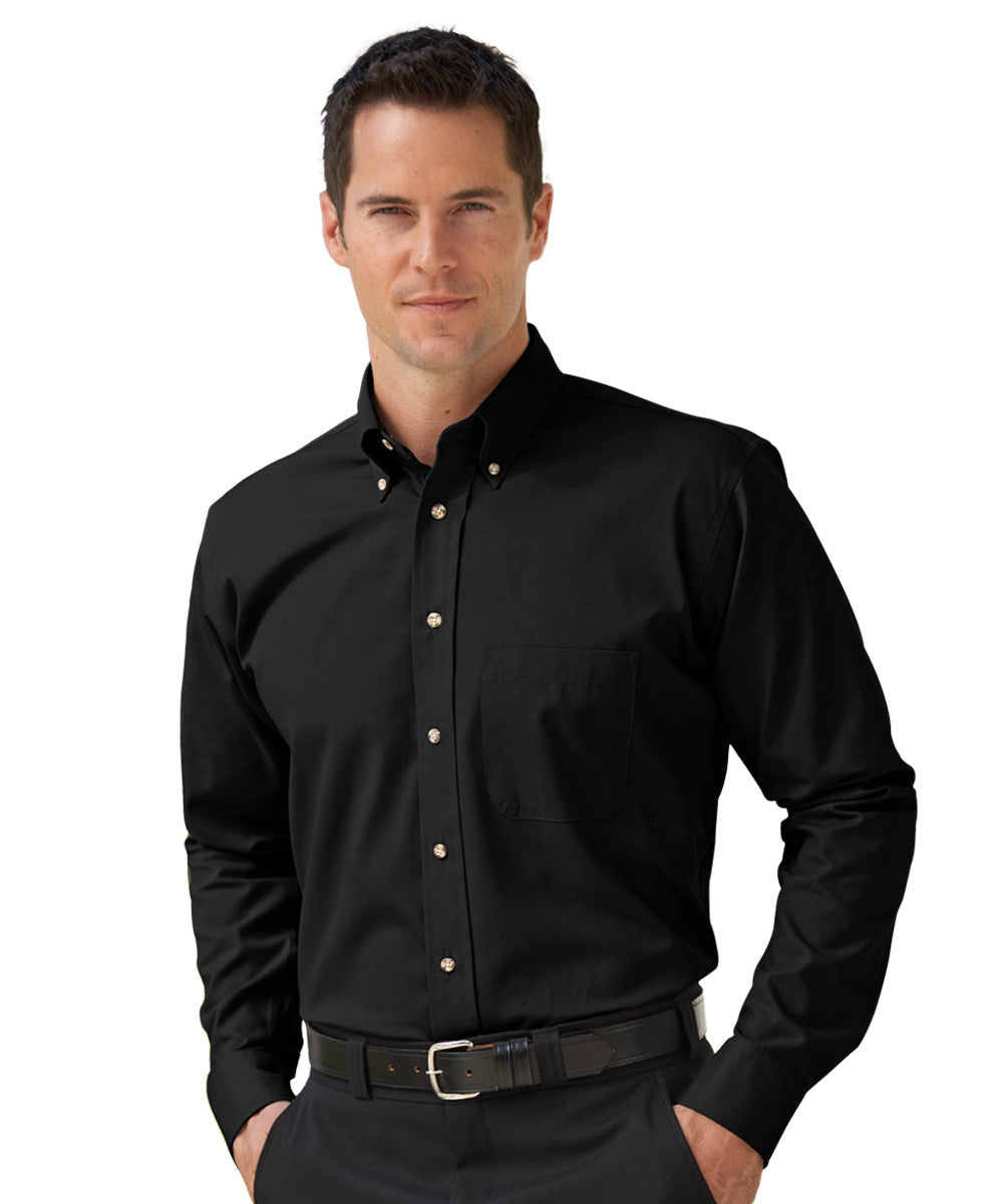 Black Button-Down Poplin Shirts Shown in UniFirst Uniform Rental Service Catalog