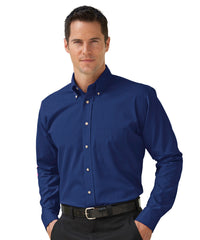 Royal Blue Button-Down Poplin Shirts Shown in UniFirst Uniform Rental Service Catalog