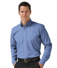 French Blue Button-Down Poplin Shirts Shown in UniFirst Uniform Rental Service Catalog