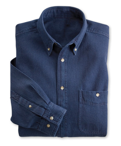 UniFirst® Men's Button-Down Denim Shirts