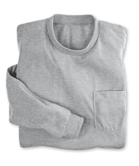 Heather Grey Moisture Management Pocket T-Shirts Shown in UniFirst Uniform Rental Service Catalog